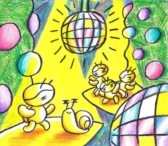 窓にシーズン #008「紫陽花ディスコティック」