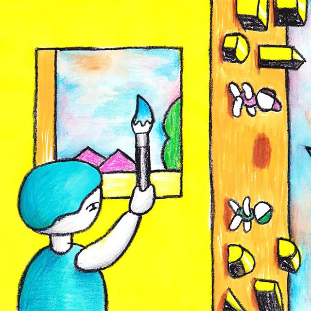 窓にシーズン #007「空にもらった色」