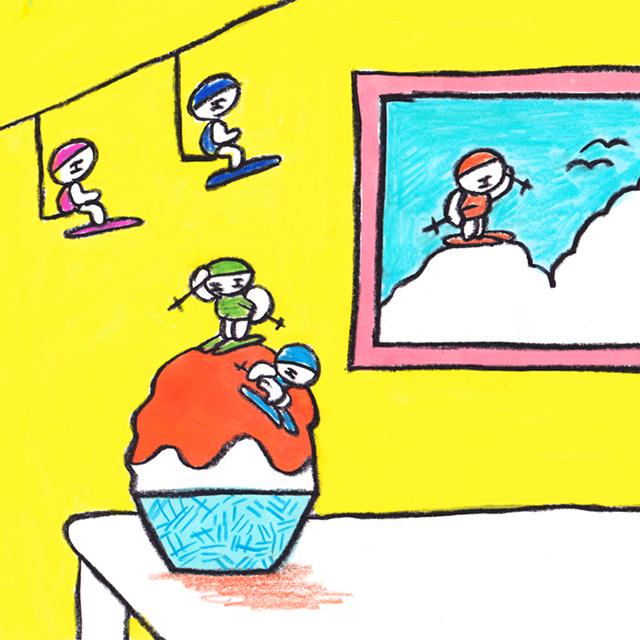 窓にシーズン #012「夏の雪山」