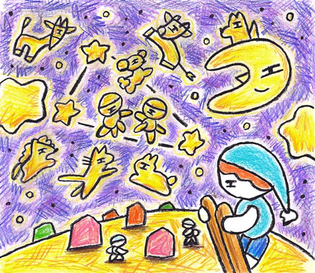 窓にシーズン #021「冬の星」